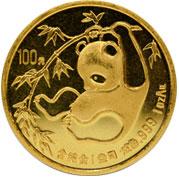 Chinesische Pandas Gold